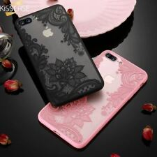Case For iPhone 6 6s 7 8 Plus 5 5S 3D Flower Print Back Cover