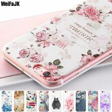 Phone Case for iPhone 5s 5 6 6s 7 8 X Plus Flower Silicone Soft Full Cover