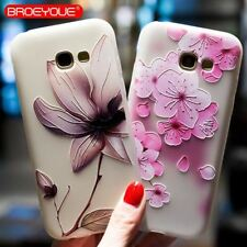 Silicone Flower Case For Samsung Galaxy S8 S7 Edge S9 Plus Note 8 J2 J3 J5 J7 A3