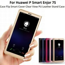 Huawei P Smart Enjoy 7S Flip Smart Cover PU Leather Stand Clear View Case Cover
