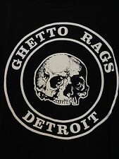Skull Roundal T Shirt Detroit Ghetto Rags Biker Goth Rock Punk + FREE ITEMS