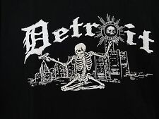 Spirit of  Detroit T Shirt Ghetto Rags Biker Goth Rock Punk + FREE ITEMS