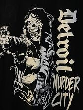 Murder City T Shirt Detroit Ghetto Rags Biker Goth Rock Punk + FREE ITEMS