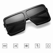 Fashion Big Square Women Men UV400 Eyewear Sunglasses PC Frame Resin Lens T