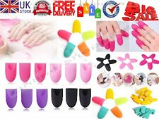 10PCS Silicone Nail UV Gel Polish Soak Off Remover Cap Wraps Nail Art Tools Gift