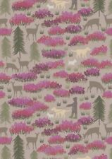 LEWIS & IRENE A WALK IN THE GLEN ON LIGHT EARTH 100% COTTON FABRIC A156.3