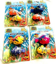 2PC  Wind Up Clockwork Swimming Fish Baby Kids Bath Time Play Toys