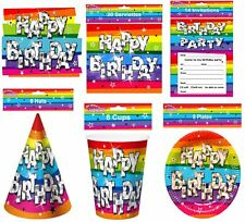 Funky Birthday Party Serviettes Pack of 20 Unisex Fancy Table Party Accessory