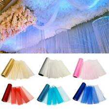 27 Yards 11 Inch Tulle Satin Ribbon Gift Bow Wedding Supply Party Craft Decor