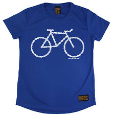 Ladies Cycling Bike Chain Bicycle Breathable T SHIRT DRY FIT R NECK T-SHIRT