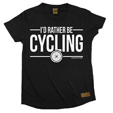 Ladies Cycling Id Rather Be Cycling Breathable T SHIRT DRY FIT R NECK T-SHIRT