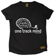 Ladies Cycling One Track Mind Breathable top átee T SHIRT DRY FIT V NECK T-SHIRT
