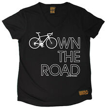 Ladies Cycling Own The Road Breathable top átee T SHIRT DRY FIT V NECK T-SHIRT