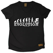 Ladies Cycling Evolution Downhill Breathable átee T SHIRT DRY FIT V NECK T-SHIRT