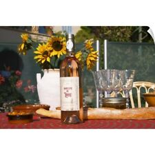 Wall Decal entitled Table with wine aperitif and appetizers, Cote d'Azur, Var,