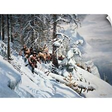 Wall Decal entitled Lewis and Clark, with their guide Sacagawea in the