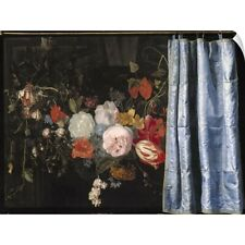 Wall Decal entitled Trompe-l'Oeil Still Life with a Flower Garland and a