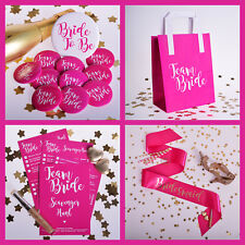 TEAM BRIDE HEN PARTY ACCESSORIES Classy Hen Night Accessories | Pink and Gold