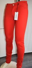 PANTALONE ROY ROGERS JEANS CATE CUT TECNICO STRETCH SKINNY COLOR ROSSO