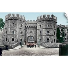 Wall Decal entitled The Castle, Henry VIII Gate, 1914, Windsor, Berkshire,
