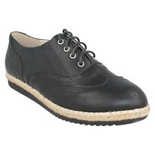 f8r0138 Spot On de mujer Zapato Oxford Estilo Punta Redonda Cordones Formal