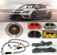 SEAT LEON BIG BRAKE KIT NÜR 4-POT CALIPERS 330mm 2 PIECE DISCS SLOTTED FLOATING