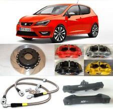 SEAT IBIZA BIG BRAKE KIT NÜR 4-POT CALIPERS 330mm 2-PIECE DISCS SLOTTED FLOATING