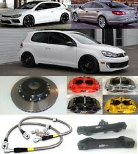 VW GOLF SCIROCCO BRAKE KIT NÜR 4-POT CALIPER 330mm 2-PIECE DISC SLOTTED FLOATING