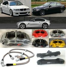 BMW E46 E90 Z3 3.0 BIG BRAKE NÜR 4-POT CALIPER 2-PIECE 330 DISC SLOTTED FLOATING