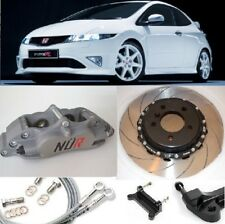 HONDA CIVIC BIG BRAKE NÜR KIT 4-POT CALIPERS 330mm 2-PIECE DISC SLOTTED FLOATING