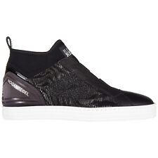 HOGAN REBEL SCARPE SNEAKERS ALTE DONNA NUOVE ORIGINALE R182 MID CUT ELASTICI DAD