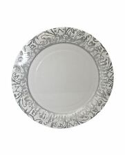 Childrens Silver/White Paper Party Plates Pack of 8 Adults Fancy Party Accessory