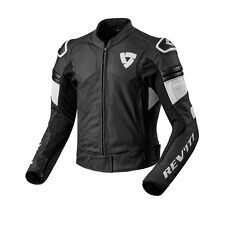 REV'IT! AKIRA AIR SPORTIVI IN PELLE GIACCA MOTO NERO BIANCO REV IT REVIT