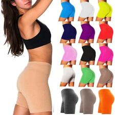 WOMEN'S LADIES DANCING SHORTS LYCRA CYCLING SHORTS LEGGINGS ACTIVE CASUAL SHORTS