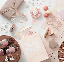 TEAM BRIDE HEN PARTY Rose Gold Vintage Bride to Be Accessories Party Decorations
