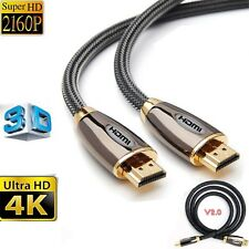 Premium HDMI Cable v2.0 Gold High Speed HDTV Ultra HD HD 2160p 3D 1M -5METER