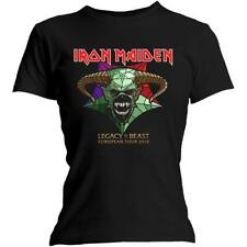 OFFICIAL LICENSED - IRON MAIDEN - LEGACY OF THE BEAST TOUR WOMENS FITTED T SHIRT