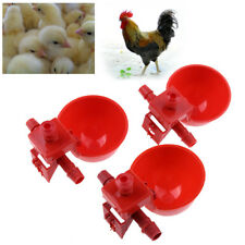 10pcs/set Automatic Bird Coop Feed Poultry Water Drinking Cups Chicken Fowl