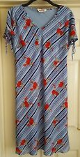 SIZE 18 KALEIDOSCOPE BLUE RED WHITE GREEN FLORAL PRINT DRESS WEDDING SUMMER