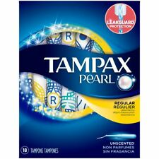 Tampax Pearl Regular Women's Tampons with Applicator & Leak Protection - 18 Pack