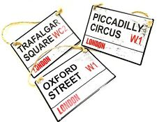 LONDON STREET SIGN/NAMES Piccadilly circus oxford street baker street abbey road