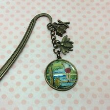 Winnie the Pooh Bookmark, Winnie the Pooh and Christopher Robin, Bronze metal
