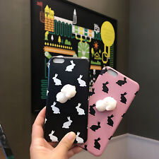 Lovely spongy  3D Soft Silicone Rabbit Phone Case Cover for iPhone 6/6s/7Plus