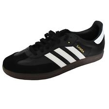 ADIDAS SAMBA FB MENS BLACK WHITE TRAINERS
