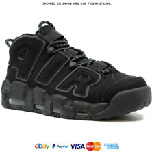ALL SIZES NEW NIKE AIR MORE UPTEMPO SCOTTIE PIPPEN TRIPLE BLACK 414962 - 004