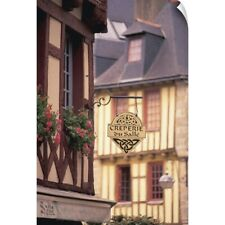 Wall Decal entitled France, Brittany, Finistere Quimper, Half Timbered