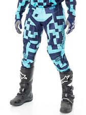 Pantaloni motocross Troy Lee Designs 2018 GP Air Maze Turquoise-Blu Scuro