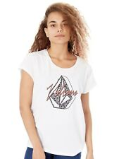 T-Shirt Donna Volcom SP18 Radical Daze Bianco