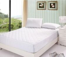 """12"""" EXTRA DEEP QUILTED MATTRESS PROTECTOR FITTED BED COVER SINGLE DOUBLE KING"""