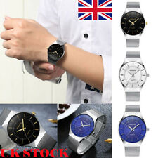 Fashion Men Stainless Steel Quartz Analog Military Watch Waterproof Wrist Watch